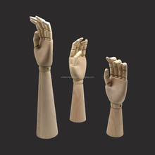 cheap articulated flexible wood hands display mannequin