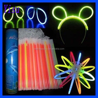 8 inches glow in the dark chemical neon light stick mixed colours bracelets connectors