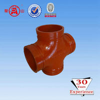 FM&UL Ductile Cast Iron Equal Cross Grooved