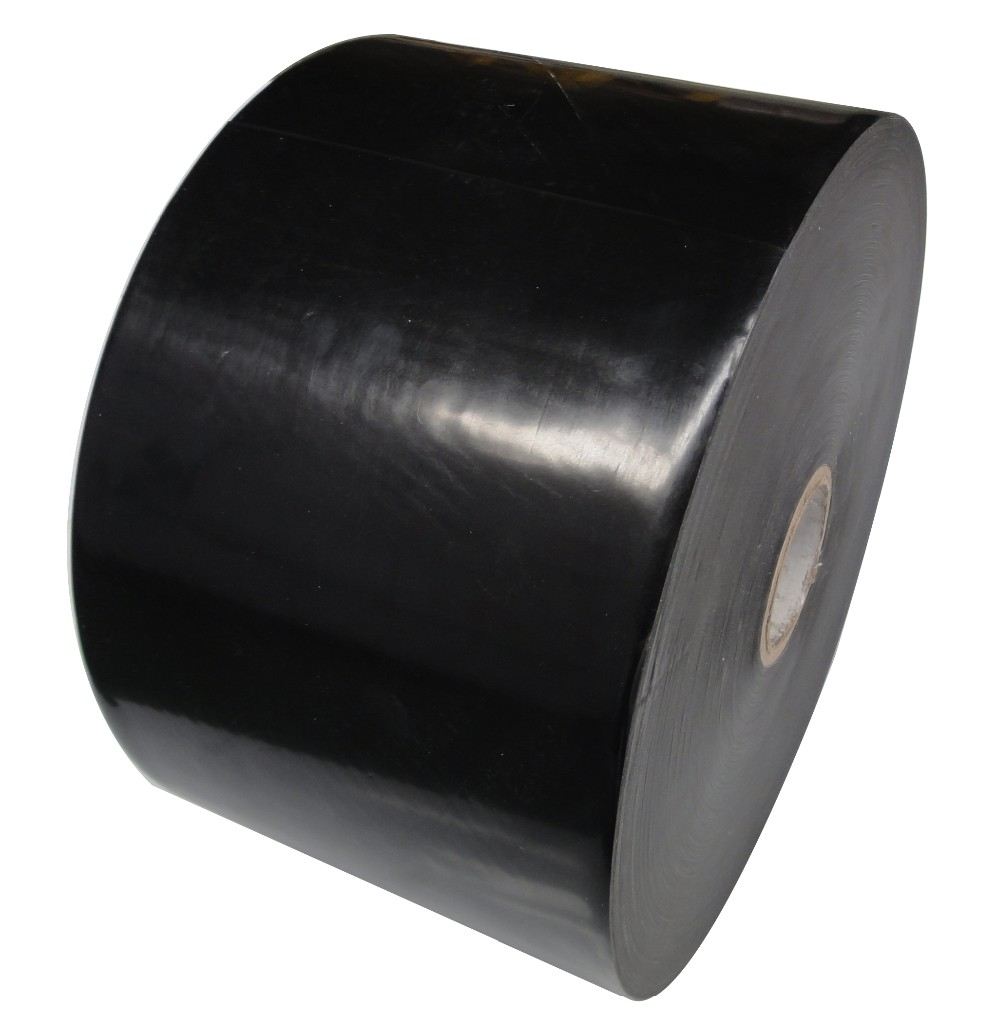 black and white color polyethylene butyl cold applied tape for wrapping gas pipe equal to 980 series