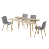 Modern design popular MDF dining table with stainless steel