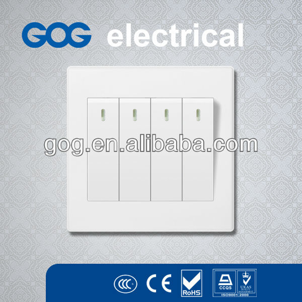 4 gang 2 way/ Four Gang two way Electrical Wall Switch,GOG switch and socket