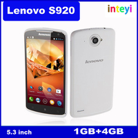 Original Lenovo S920 Unlocked Quad Core MTK6589 1.2GHz 1G RAM 4G ROM 8MP 5.3 inch IPS Screen Android 4.2 Multi-language phone