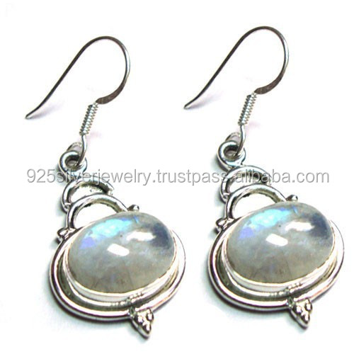 Tibetan jewelry 925 Sterling Silver earrings Semi precious gemstone jewelry