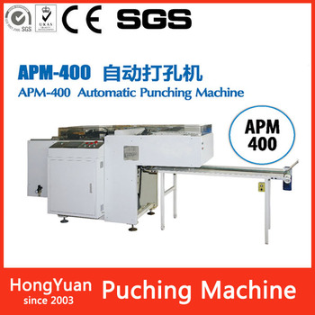 APM-400 heavy book punching hole machine for book