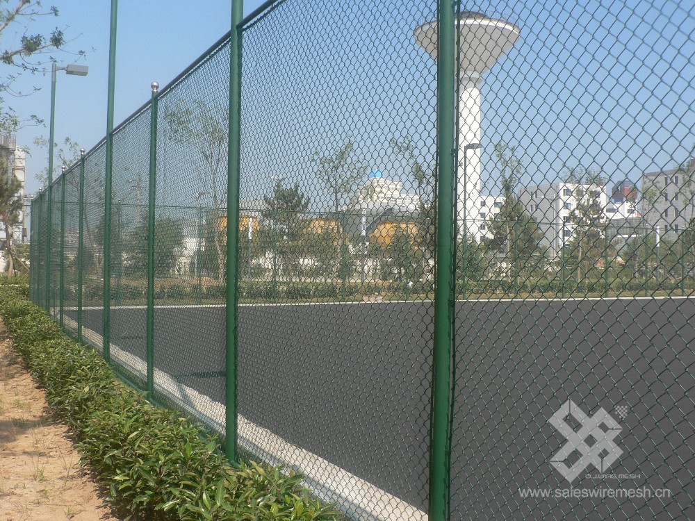 low price decorative electro galvanized metal chain link fence