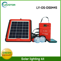 Energy Saving 5W Home Solar Panel Lighting Kit With 2 Bulbs