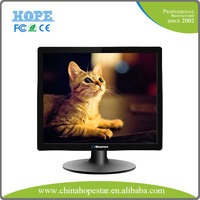 Plastic cover 17 inch led lcd monitor with 12v dc input