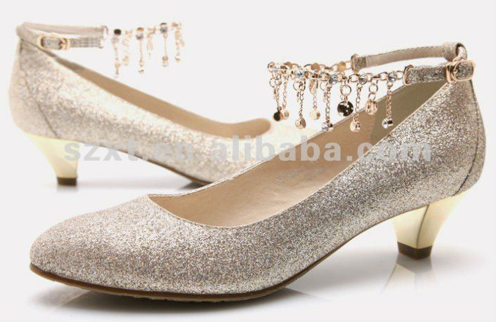 2012 Women fashion paillettes thick midheel shoes/pumps XT-SF325