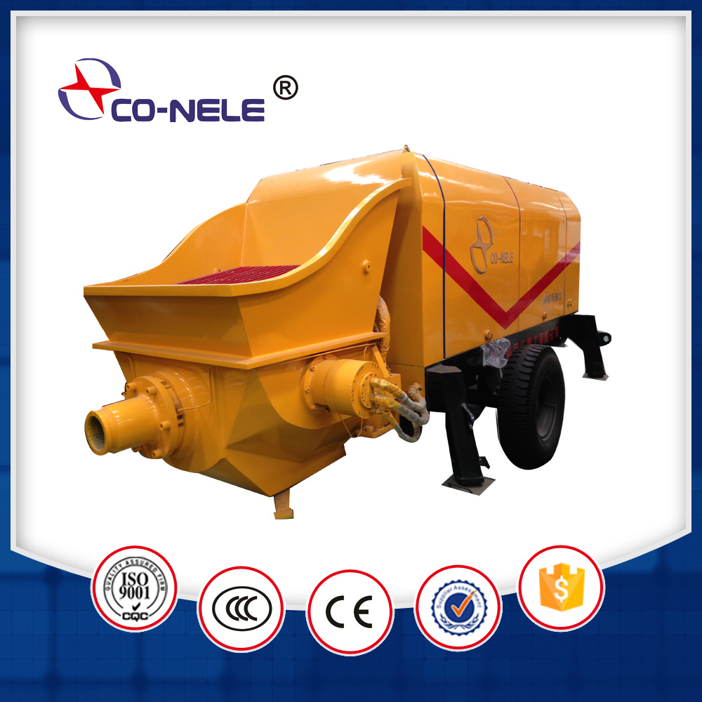Building machine trailer high quality concrete pump for sale