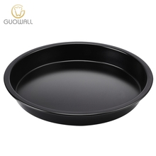 "10"" Black Round Shape Pizza Pan For Baking Oven Pizza Tray Baking Pan Carbon Steel Cake Pan"
