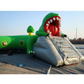 Cheap Custom High crocodile inflatable obstacle course