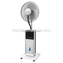 Home adjustable used cold water mist spray stand fan with touch screen