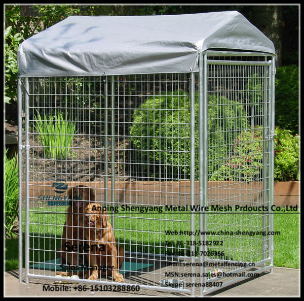 how to make dog run fence