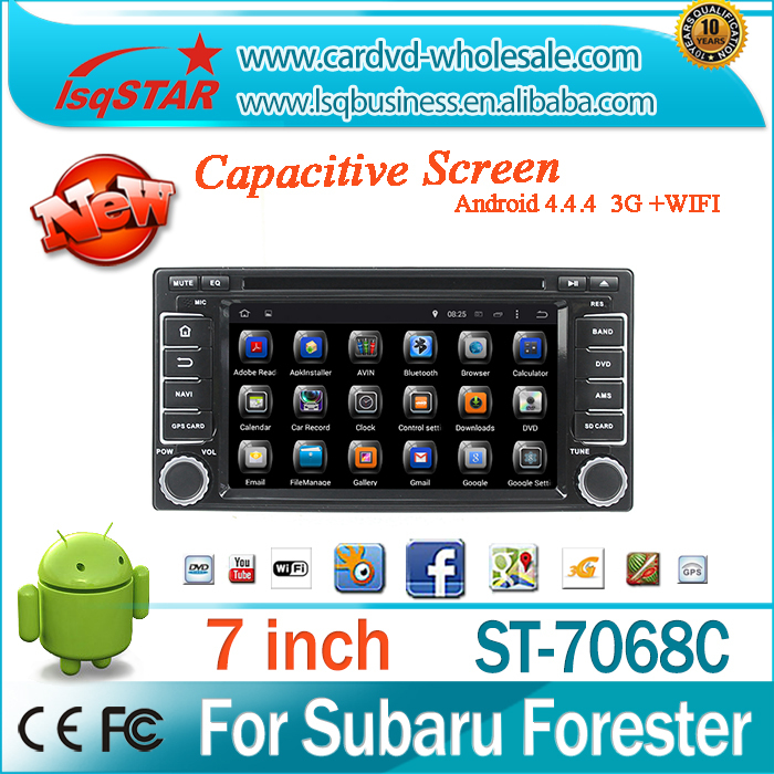 Android 4.4.4 Car DVD radio with Quad-core steering wheel control GPS 3G Wifi mirroe link OBD TPMS for Subaru Forester/Impreza