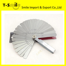 "4"" Feeler filler Gauge 17pcs set Metric 0.02-1.00mm Thickness Gauge Feeler Gauges"