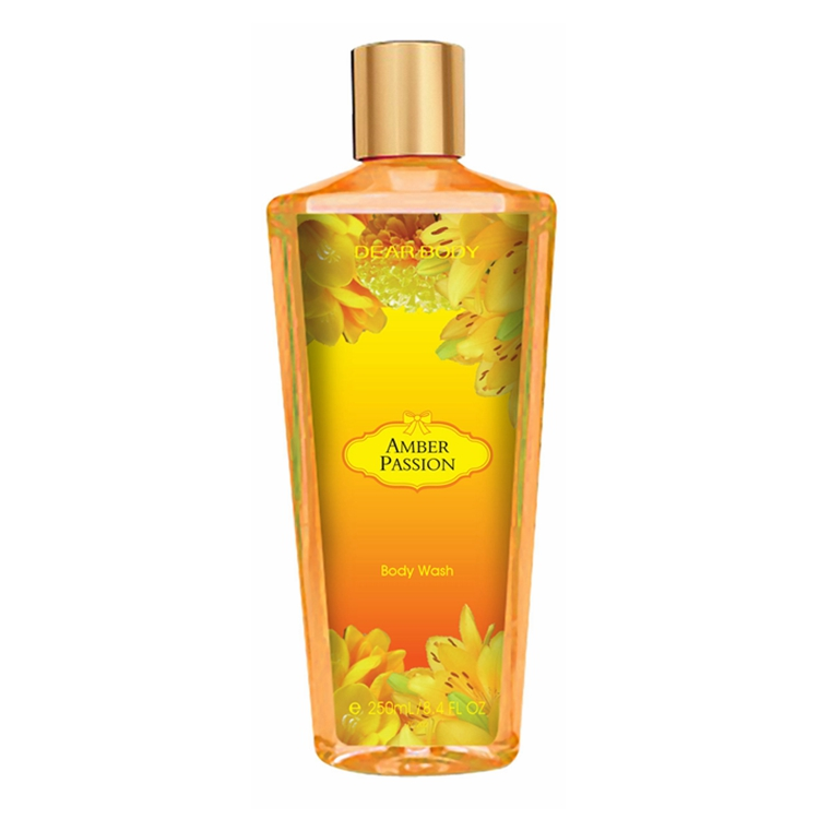 Natural flower and floral scents bath shower gel