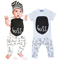 0-24M Baby boys Clothes Set Letter T Shirt + Arrow Pattern Pants Newborn Baby Girl Clothing Set 2pcs Suits New Born Baby Clothes