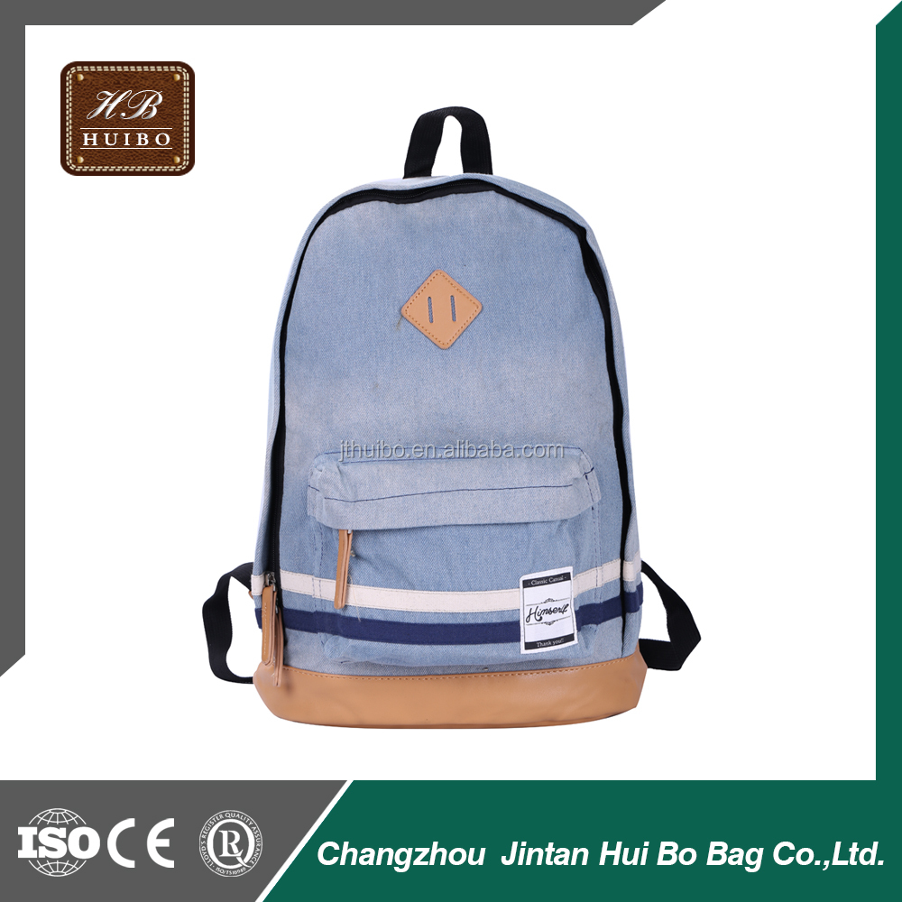 Softback Type Day Backpack Use Schoolbag Canvas Rucksack Custom