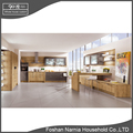 drawer style wood veneer modern kitchen cabinet in China