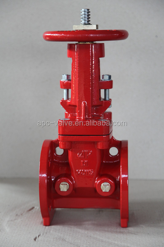 400PSI Flanged Type Rising Stem Gate Valve FM Approved UL Listed