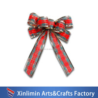 2015 Wholesale pre-tied satin ribbon pre-made bows