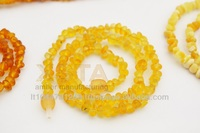 Natural raw amber necklace unpolished beads jewelry wholesale for adults H128