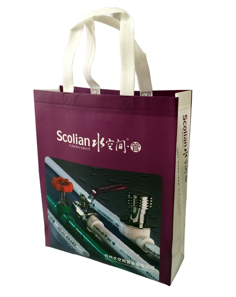 PP Eco-Friendly Ultrasonic Non-woven Promotional Wholesale Exhibition Tote Reusable Bag
