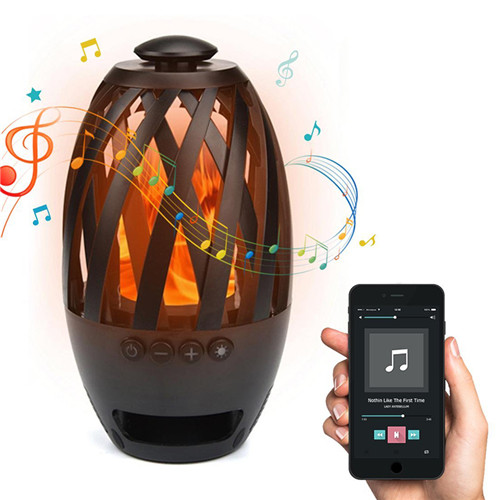 LED Flame Bluetooth Speaker with TWS Function