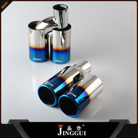 304 stainless steel blue muffler for universal