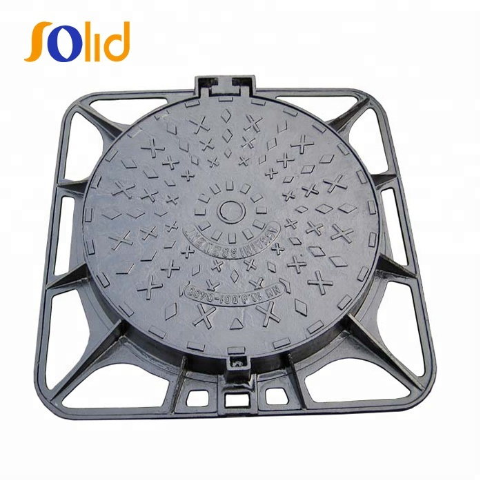 850X850 D400 Double hinge, double closing Square Sewage Manhole Cover in China