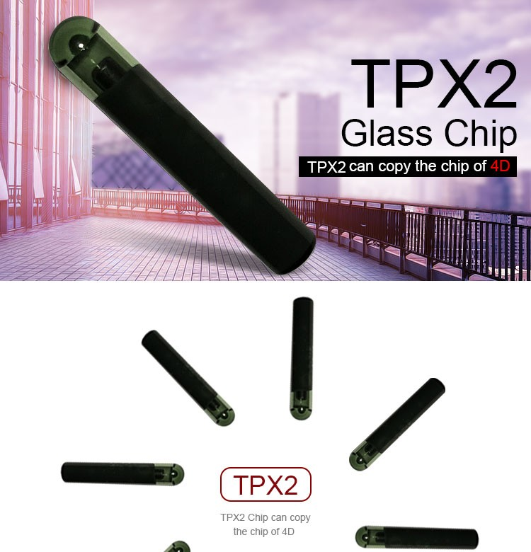 DY120704 TPX2 chip clone chip JMA TPX2 transponder glass chip