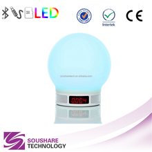 New model ABS portable led lamp levitating wireless bluetooth portable speaker support usb flash drive fm radio