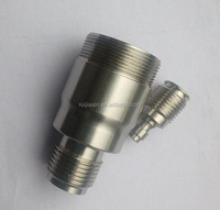 female to male threaded reducing bushing tee joint Pipe Fittings for Double threaded joint