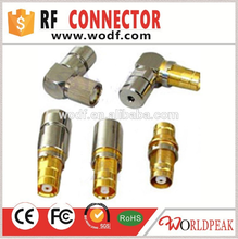 free samples d-link router 1.6/5.6 Male Crimp rf Connector For BT3002 Cable