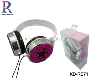 Bling shining cut headphone stylish headphones for girls