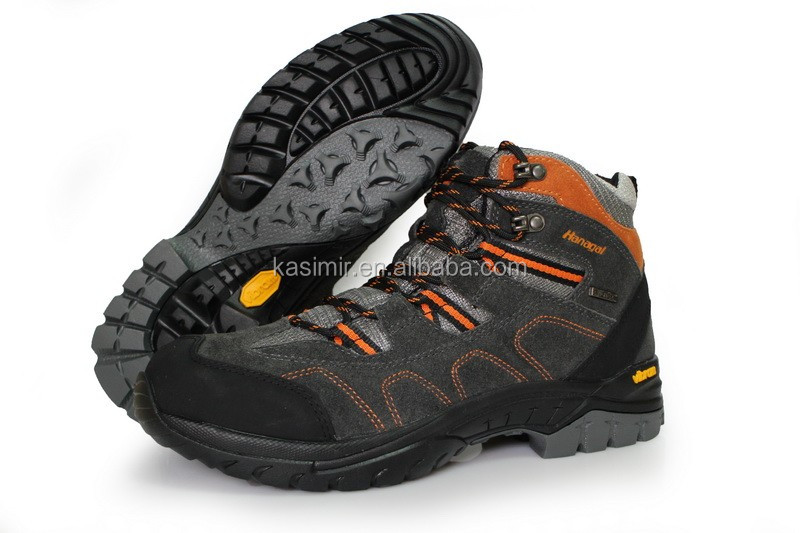 Suede leather factory price from China OEM offered stock outdoor sport shoes/camping shoes boots/backpacking boots