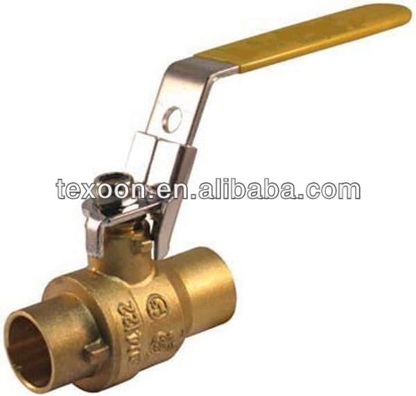 lead free welded full port upc brass lockable ball valves with locking handle