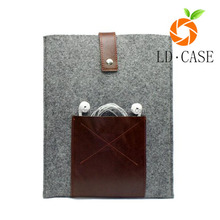 Factory cheap price tablet sleeve woolen felt case cover bag for Ipad Pro