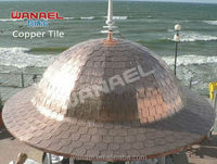 copper roofing shingle