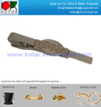 custom cheap promotional nickel plating tie clip
