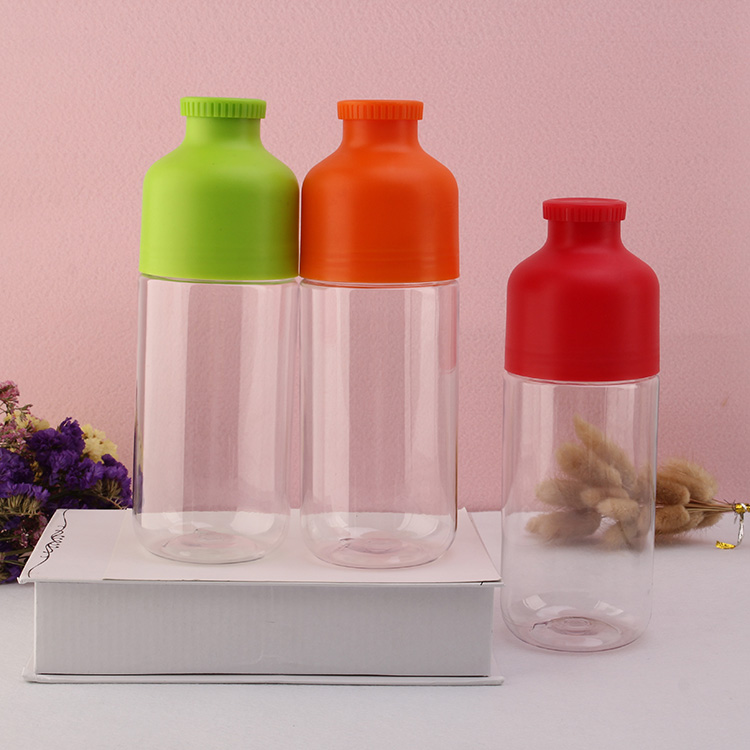 Multi-colored options creative plastic transparent water bottle