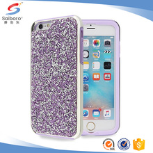 Good quality luxury diamond bling electroplated phone cover case for iphone 6 6plus