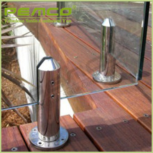 High quality outdoor balcony high polish 304 316 Stainless steel frameless glass spigot