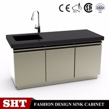 Commercial Stainless Steel Kitchen Base Sink Cabinet/Heavy Duty Kitchen Bench Cabinet/Bar Counter for Sales