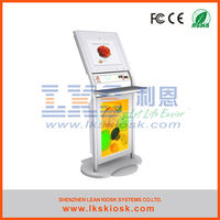 queue management kiosk with touch screen