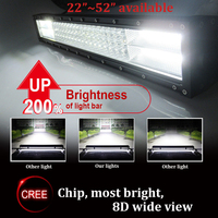 2017 Strong bright most stable LED light bar off road