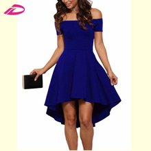 Summer Dress 2017 Women Off Shoulder Party Casual Elegant Vintage Midi Dress High Quality Cheap Vestidos