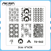Nail Salon Beauty Care 6x6 CM Nail Art Nail Stamping Plate Tool