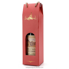 Creative Wine Bottle Paper Bag with Window China Suppliers Customization Accepted